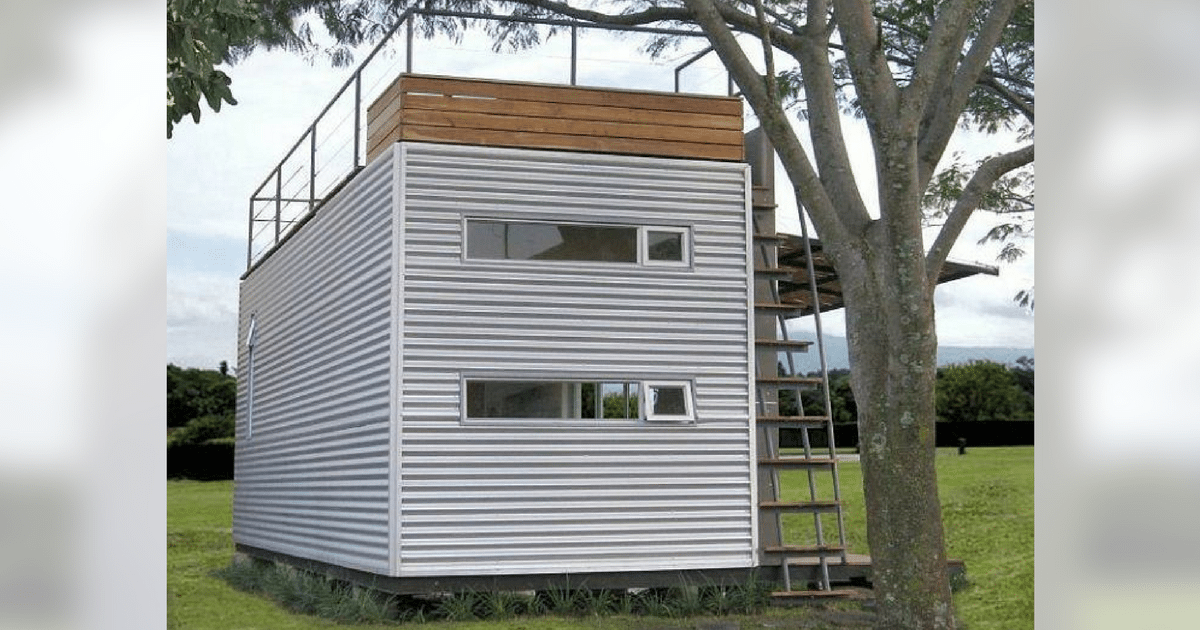 Tours Man Transforms 160 Sq Ft Shipping Container Into
